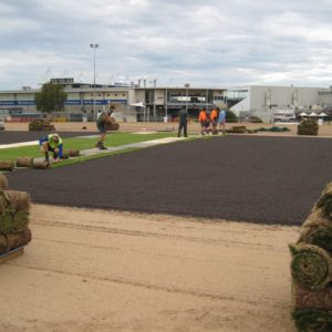 Geelong wicket reconstruction - during